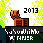 NaNoWriMo, 2013, Winner, badge