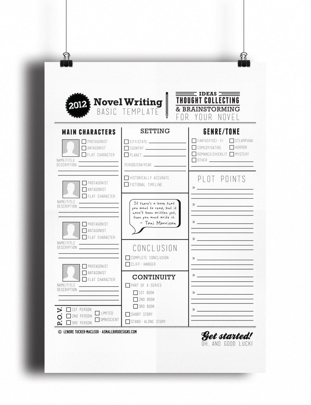 Novel writer helper