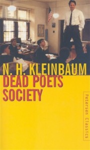 Dead Poets Society, N.H. Kleinbaum, book, cover, based on movie, Robin Williams