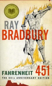 Fahrenheit 451, Ray Bradbury, dystopia, burning books,