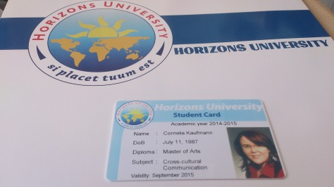 Horizons University, Cornelia Kaufmann, Student, ID, Master, Cross-CulturalCommunication
