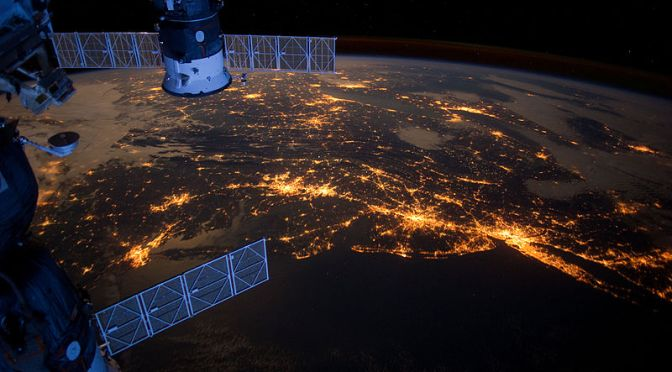 NASA, ISS, Space, mission, Earth at Night,