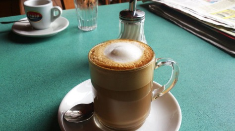 Latte Macchiato, spill the beans, coffee, café Orlando, musikcafé orlando, Solingen