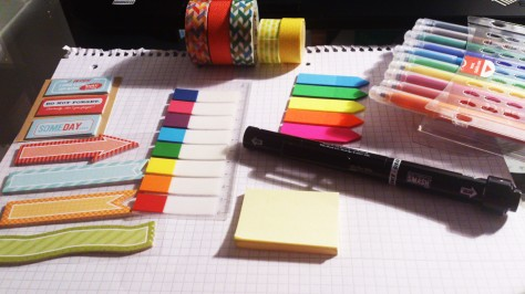 Organisation, agenda, washi tape, creative, post-its, Smash books