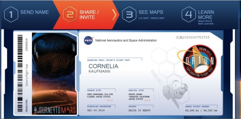 orion flight test, send your name, NASA, space, Mars, mission, rocket launch, #JourneyToMars,
