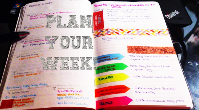 Organising my week: Work, Study, Creativity