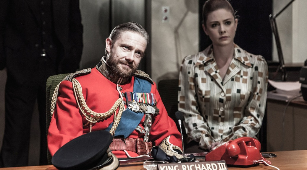 Richard III, Trafalgar Studios, Trafalgar Transformed, London, Martin Freeman, Lauren O'Neil, Shakespeare,