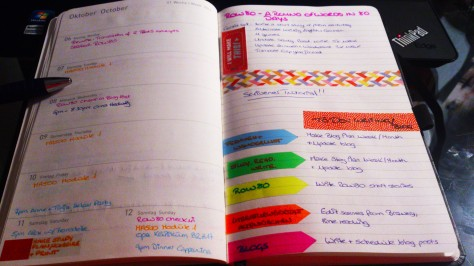 Week, plan, agenda, calendar, view, notes, organisation, student, college, creative