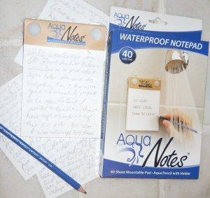 Aqua Notes, waterproof paper, notepad