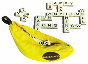 Bananagrams, word game, Scrabble, Christmas