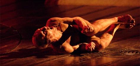 Frankenstein, play, 2011, National Theatre, Benedict cumberbatch, Jonny Lee Miller, Creature Photo: Catherine Ashmore