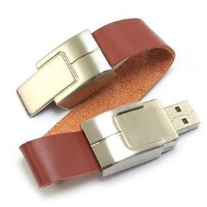 Leather USB Wristbands look like bracelets. Photo: Amazon