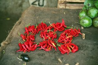 Hot and Spicy! Details from a market stall in Dar Es Salaam, Tanzania. Photo: Cornelia Kaufmann