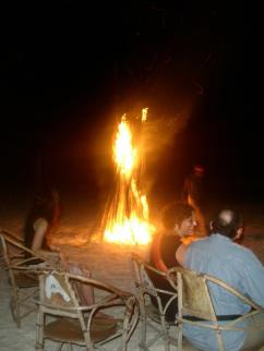 New Year's Bon Fire on a Zanzibar Beach. Photo: Cornelia Kaufmann