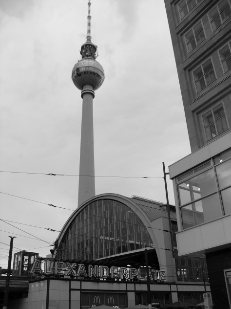 Iconic Alexanderplatz with its TV Tower, one of East Berlin's most famous squares. McDonald's has found a home at the train station. Photo: Cornelia Kaufmann