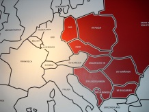 Map showing the former Soviet Union (red). Photo: Cornelia Kaufmann