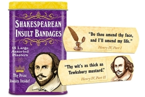 Shakespearean Insult Bandages. Photo: Perpetual Kid