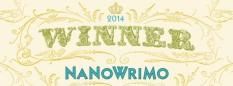 NaNoWriMo 2014 Winner banner, 50k words