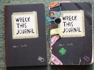 A Wreck This Journal before and after. Photo: Joe Bower