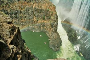 The Zambezi river at Victoria Falls. Photo: Cornelia Kaufmann