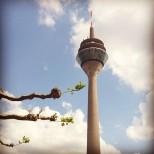 Düsseldorf's Rhine Tower. Photo by Cornelia Kaufmann