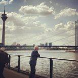 Düsseldorf and the shore of the Rhine. Photo by Cornelia Kaufmann