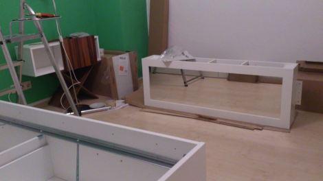 Assembling IKEA furniture. Photo by Cornelia Kaufmann