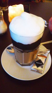 Latte Macchiato with Cocoa Paste at Café Zettel's Traum, Leverkusen-Opladen