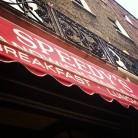 Speedy's Café on North Gower Street. Fantastic wraps and the filming location of BBC Sherlock's 221b Baker Street exteriors. Photo by Cornelia Kaufmann