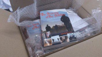 A box full of my book! Photo by Cornelia Kaufmann