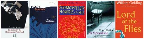Year 13 Books: Der Vorleser, Die Bekenntnisse des Hochstaplers Felix Krull, Slaughterhouse-Five, Lord of the Flies, Die Verwandlung