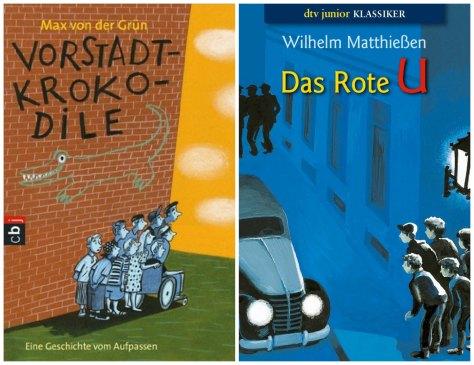 Year 5 books: Die Vorstadtkrokodile and Das Rote U