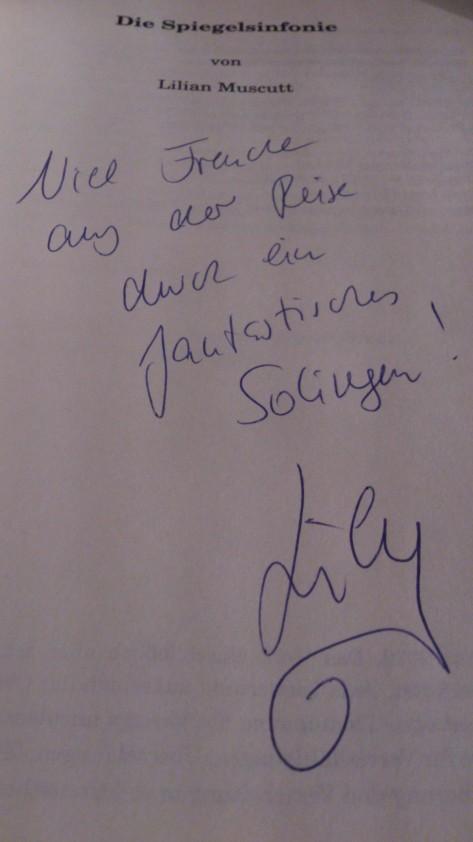 Lilian Muscutt's autograph in my copy of Die Spiegelsinfonie