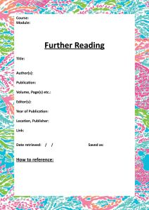 Further Reading Cover
