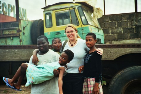The neighbourhood kids and me in Achimota, Accra, Ghana back in 2006. They're all grown up now. Photo by Cornelia Kaufmann