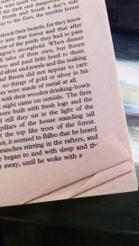 Hobbit turned pages