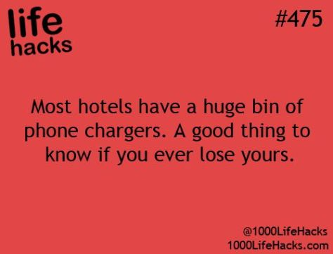 Life Hacks mobile charger
