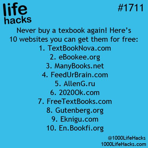 how to get free textbooks life hack study read write
