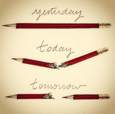 Yesterday, Today, Tomorrow by Lucille Clerc (NOT Banksy, as previously claimed on Banksy's Instagram)