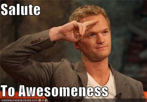 Thank you, salute NPH