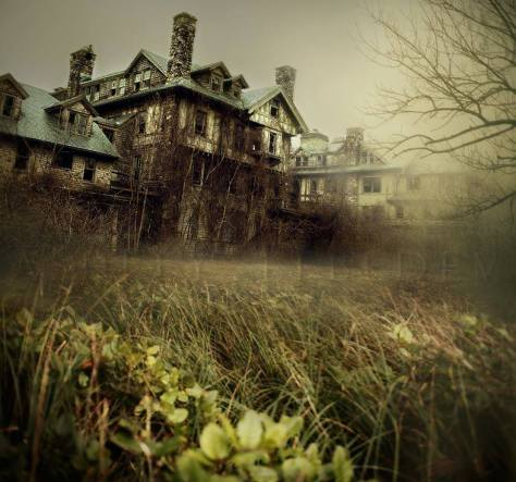 A derelict house and overgrown garden. Photography by Ashley Lebedev / Bottle Bell Photography