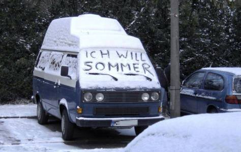 Ich will Sommer (I want summer)!! Photographer unknown, found in the group Deutschland-Germany on Facebook.