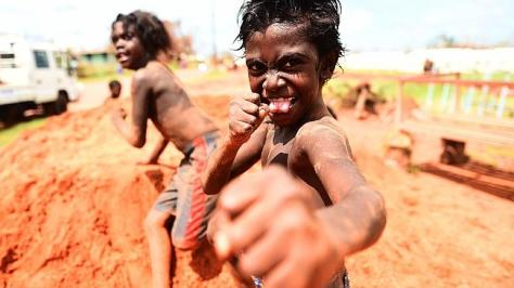Aborigine boys in Galiwin'ku, Arnhem Land, Australia. Photo by Helen Orr