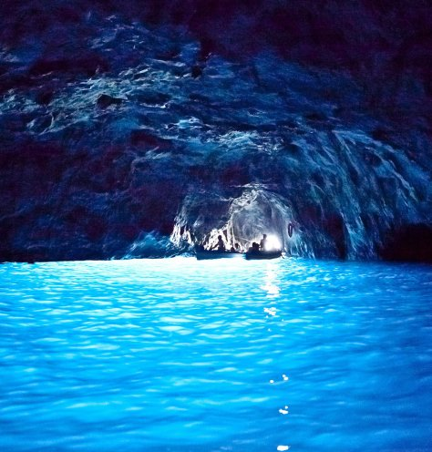 The Blue Grotto in Capri. Photo: Corbis Images