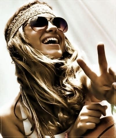 Hippie girl. Photographer unknown