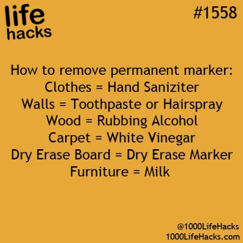 Life Hacks Permanent Marker removal