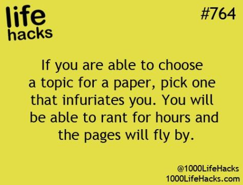 Study Tip How to choose a paper topic