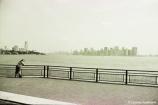 View from Liberty Island across the Hudson River towards Manhattan. Copyright Cornelia Kaufmann
