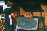 A BBQ stall at Old Town Square. Copyright Cornelia Kaufmann