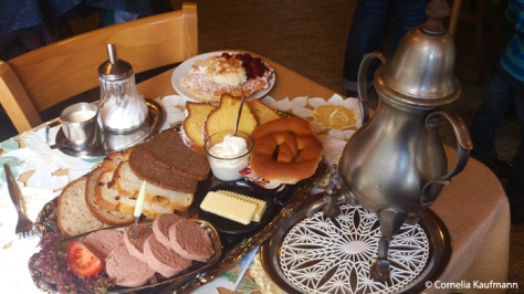 Bergische Kaffeetafel, a traditional afternoon meal from Solingen. Copyright Cornelia Kaufmann